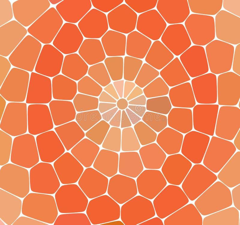 färgrik abstrakt bakgrund Apelsinen marmorerar mosaikdurken med naturliga stenar royaltyfri illustrationer