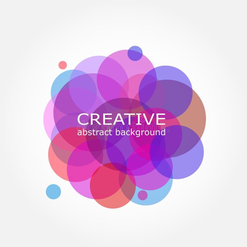 färgrik abstrakt bakgrund Design för Sumi cirkelvektor Runt c royaltyfri illustrationer
