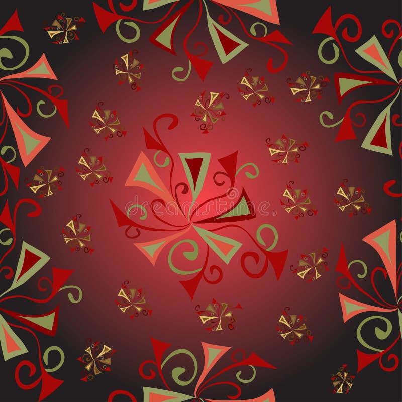 Färgrik abstrakt bakgrund för blom- fantasimodell royaltyfri illustrationer