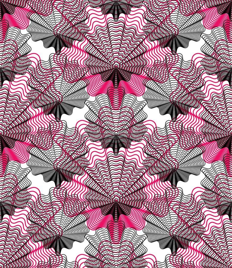 Färgrik abstrakt bakgrund för utsmyckad vektor med grafiska linjer S vektor illustrationer