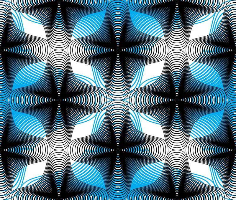 Färgrik abstrakt bakgrund för utsmyckad vektor med grafiska linjer S stock illustrationer