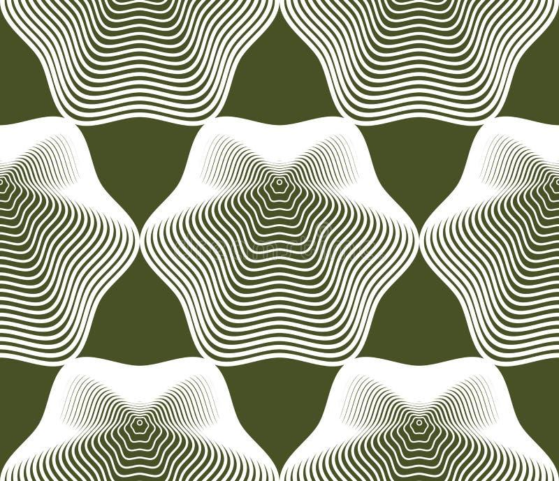Färgrik abstrakt bakgrund för utsmyckad vektor med vita linjer Sym royaltyfri illustrationer