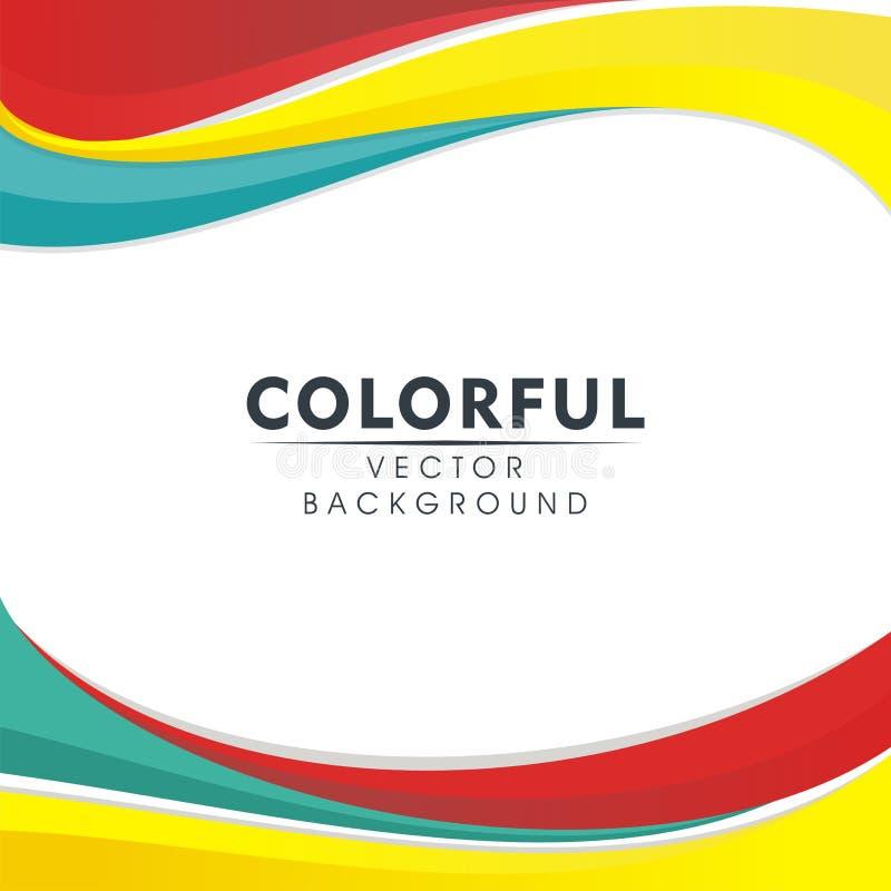 Färgrik abstrakt bakgrund med krabb stildesign stock illustrationer