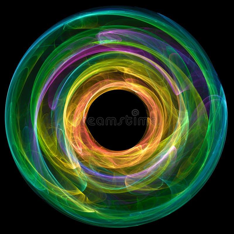 Färgrik abstrakt cirkel vektor illustrationer