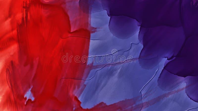 Färgrik abstrakt fläckvattenfärg Hög upplösningsbild, färger som är våta på torr pappersbackgrund stock illustrationer