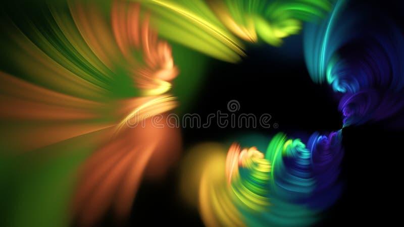 Färgrik abstrakt fractalillustration arkivfoton
