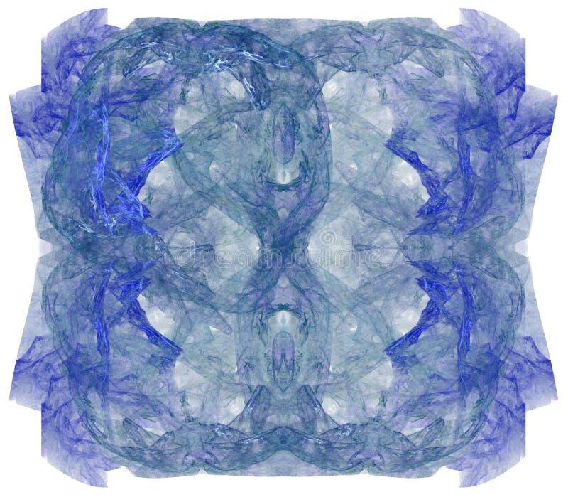 Färgrik abstrakt fractalillustration stock illustrationer