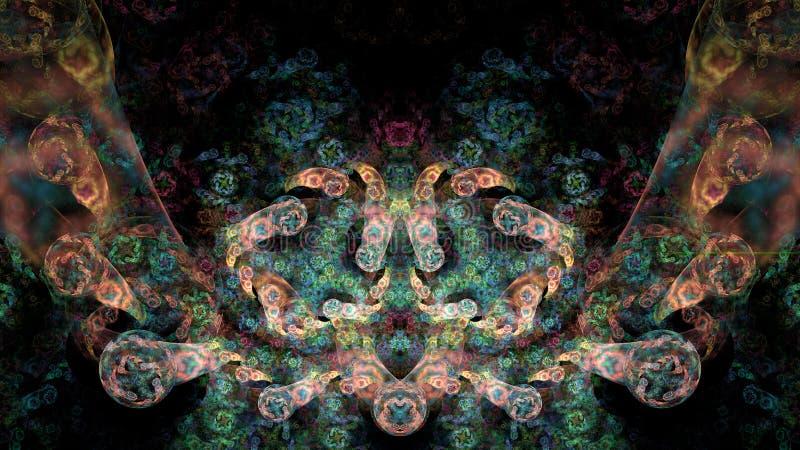 Färgrik abstrakt fractalillustration arkivbild