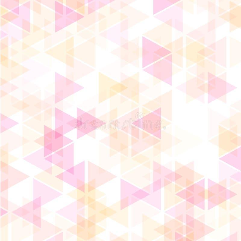 Färgrik abstrakt geometrisk affärsbakgrund, den varma rosa färgen och apelsinen för gul guld färgar royaltyfri illustrationer