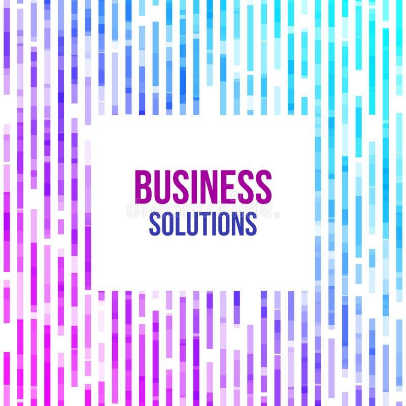 Färgrik abstrakt geometrisk affärsbakgrund Slumpmässig mosaik för Violet, för rosa färger och för blåa geometriska former vektor illustrationer