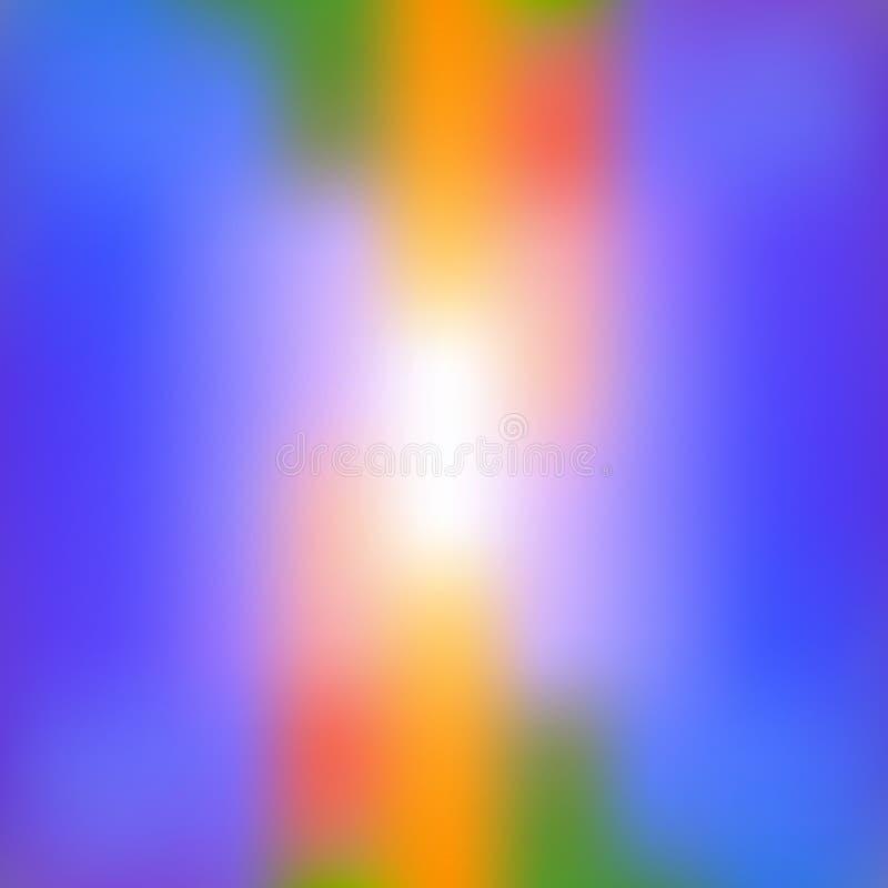 Färgrik abstrakt ljus suddig bakgrund i vibrerande färger Dekorativ designtextur stock illustrationer