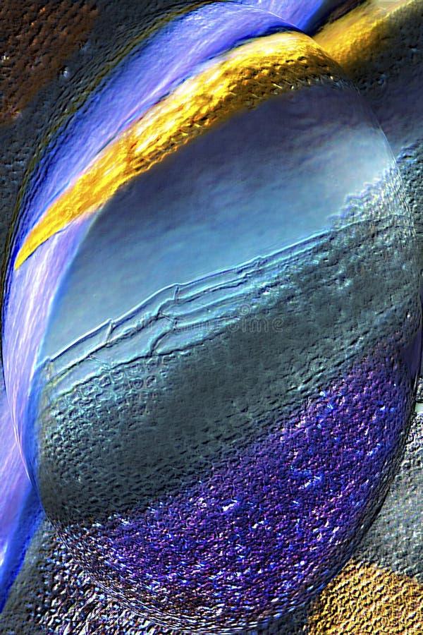 Färgrik abstrakt micrograph av mossasidor i en bubbla arkivfoton
