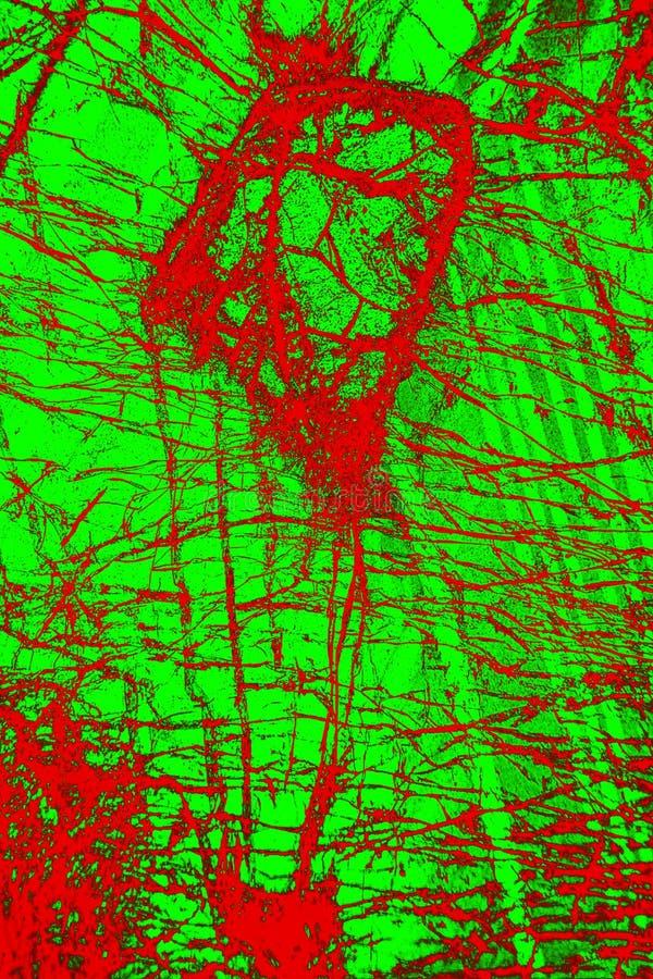 Färgrik abstrakt modell av mineral i en polariserande micrograph arkivfoton