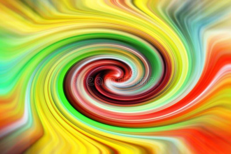 Färgrik abstrakt piruett royaltyfria bilder