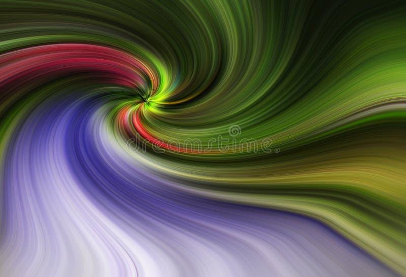 Färgrik abstrakt piruetteffekt för bakgrund royaltyfri bild