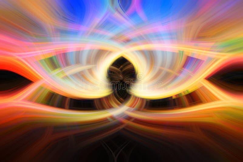 Färgrik abstrakt piruetteffekt för bakgrund royaltyfria foton