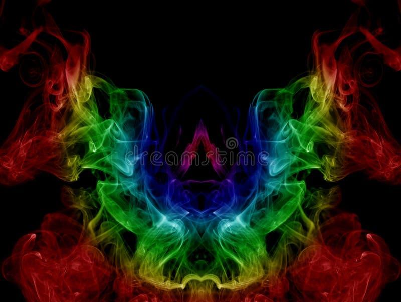 Färgrik abstraktion arkivfoto