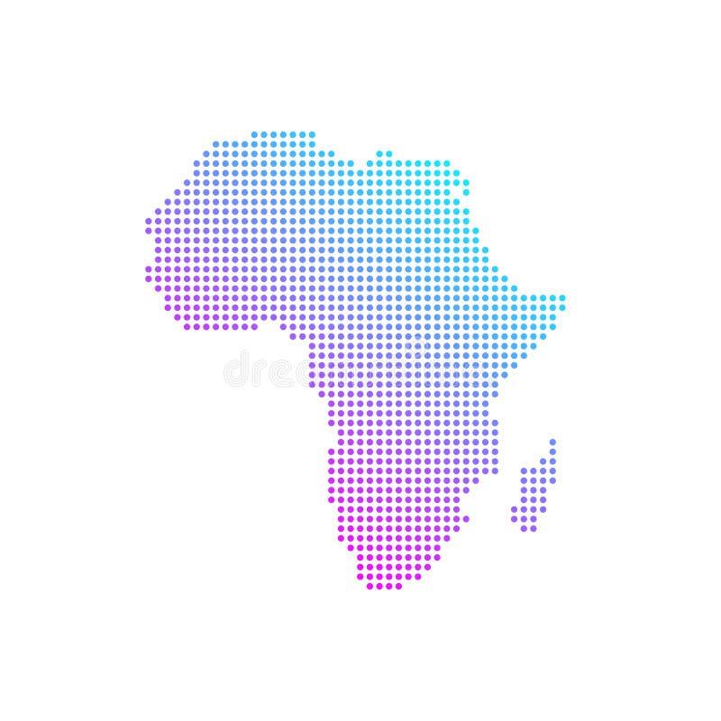 Färgrik africa prucken världskartalägenhetvektor vektor illustrationer