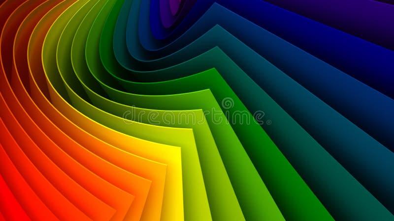 färgrik bakgrund 3d royaltyfri illustrationer