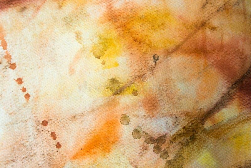 Färgrik bakgrund av vattenfärgmålning på papperet royaltyfria bilder