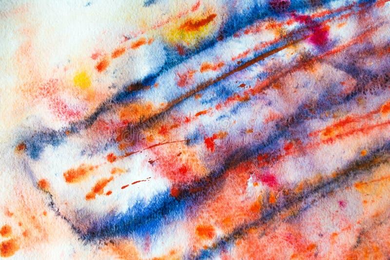 Färgrik bakgrund av vattenfärgmålning på papperet royaltyfri foto