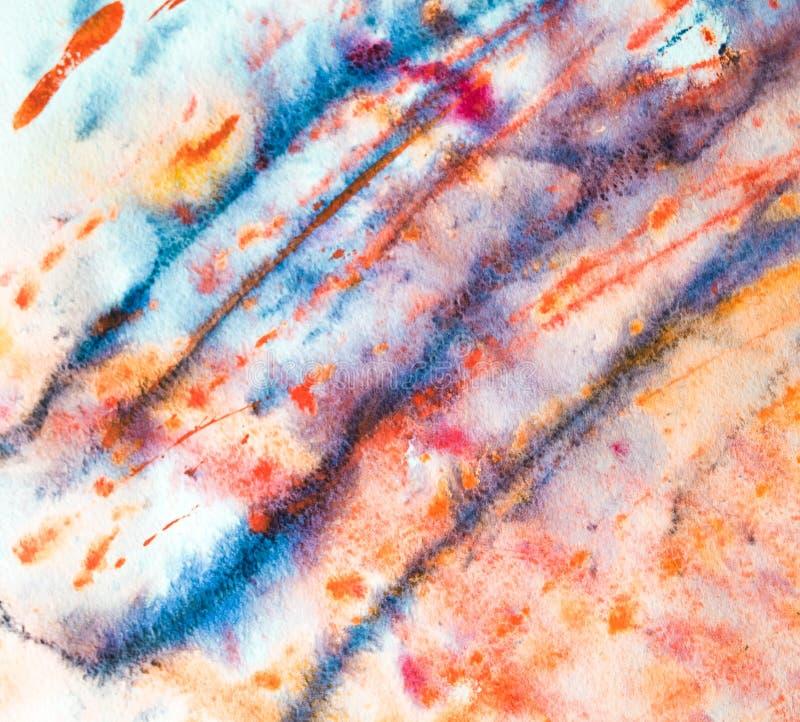 Färgrik bakgrund av vattenfärgmålning på papperet arkivbild