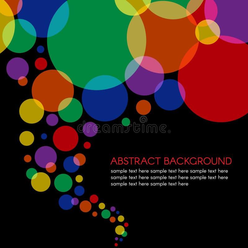 Färgrik bakgrund för abstrakt begrepp för våg för cirkelspiralstorm stock illustrationer