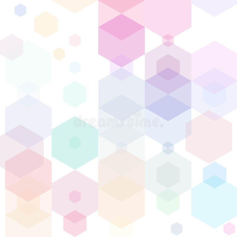 Färgrik bakgrund för abstrakt sexhörning Vektorillustration EPS10 vektor illustrationer