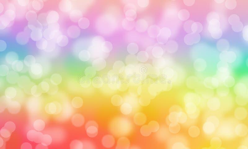 Färgrik bakgrund för Bokeh abstrakt begreppregnbåge