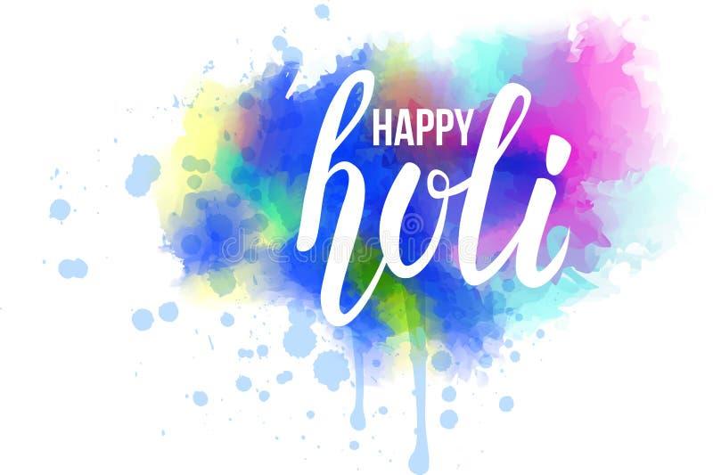 Färgrik bakgrund för färgstänk för Holi festivalvattenfärg royaltyfri illustrationer