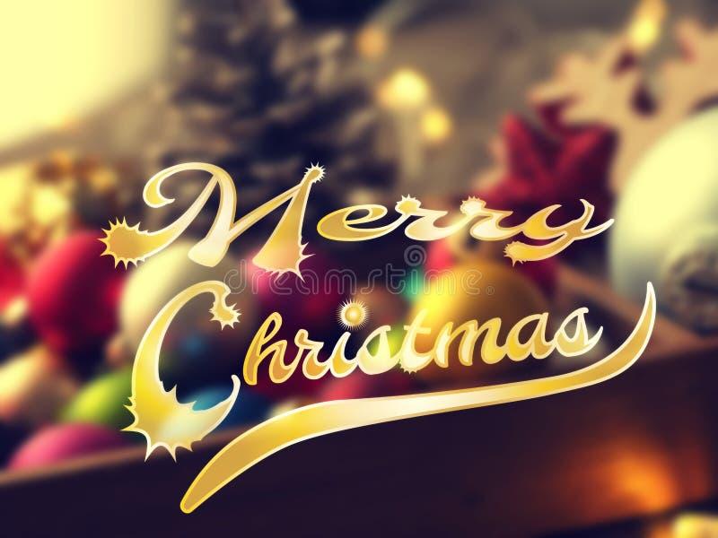 Färgrik bakgrund för glad jul royaltyfri fotografi