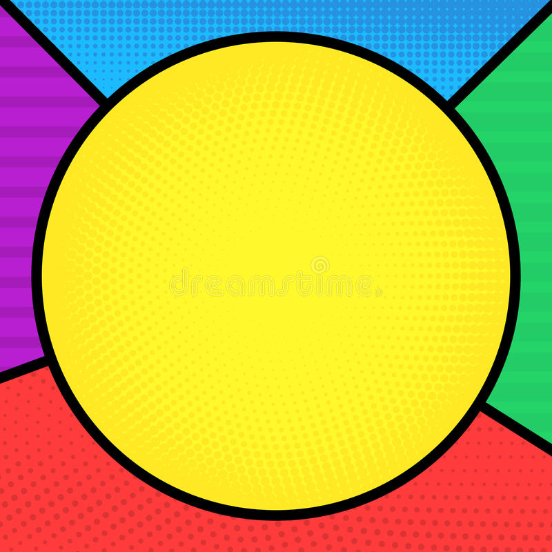 Färgrik bakgrund för humorbokstil royaltyfri illustrationer