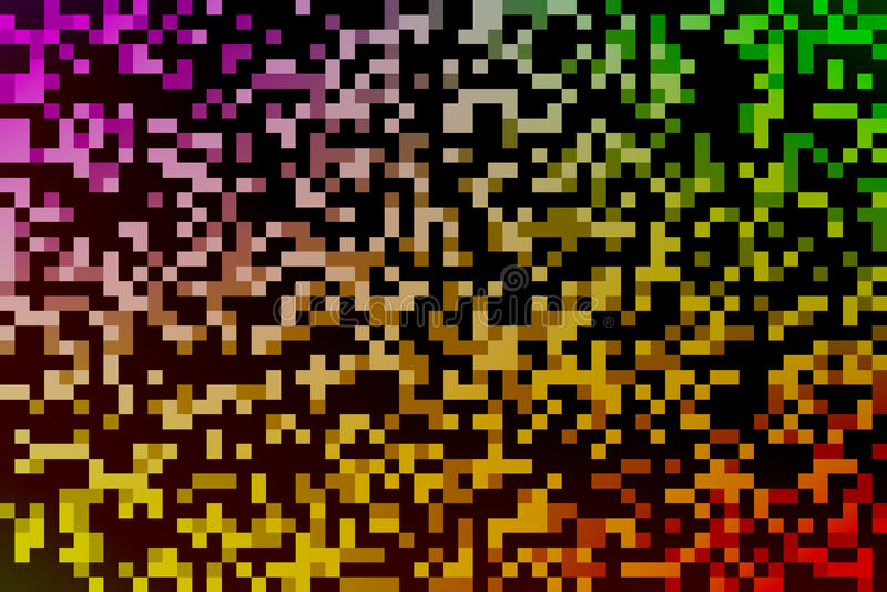 Färgrik bakgrund för PIXELregnbågeabstrakt begrepp vektor illustrationer
