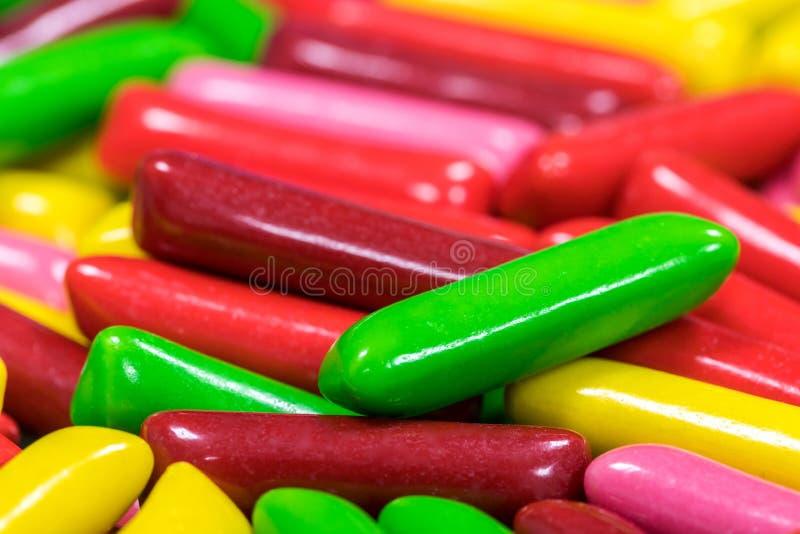 Färgrik bakgrund för sockersötsakgodis royaltyfri foto
