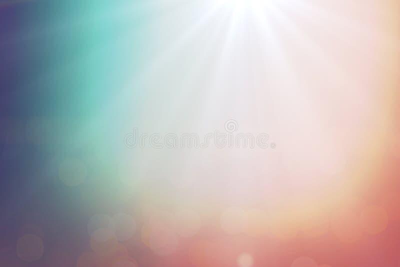 Färgrik bakgrund för sommar för solnedgånglutningsuddighet med karaktärsteckningdesignen för designbakgrund eller samkopieringsfo arkivbilder
