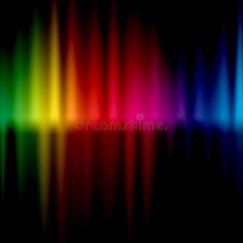 Färgrik bakgrund för våg arkivbilder
