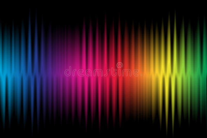 Färgrik bakgrund för våg royaltyfria foton