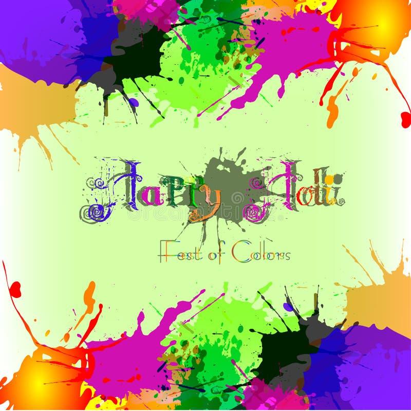 Färgrik bakgrund med kaotiska färgstänk och fläckar Festival av färger Holi stock illustrationer