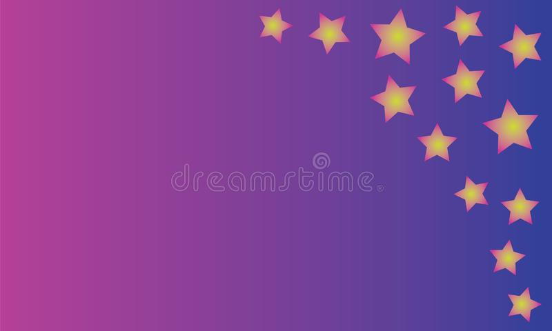 Färgrik bakgrund med ljusa stjärnor royaltyfri illustrationer
