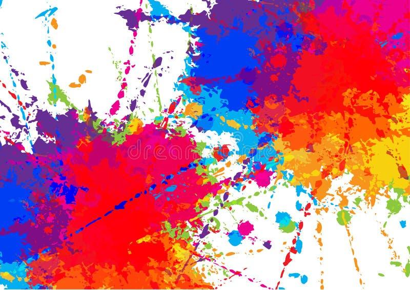 Färgrik bakgrundsdesign för abstrakt vektor Illustrationvektordesign royaltyfri foto