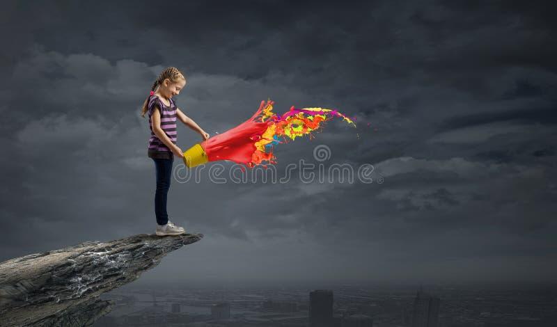 Färgrik barndom! royaltyfria bilder