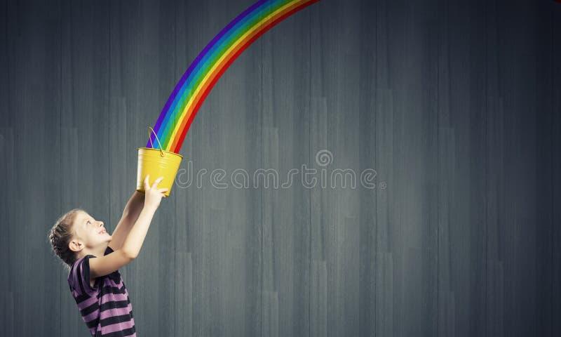 Färgrik barndom! arkivfoto