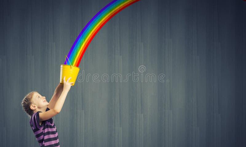 Färgrik barndom! arkivbild
