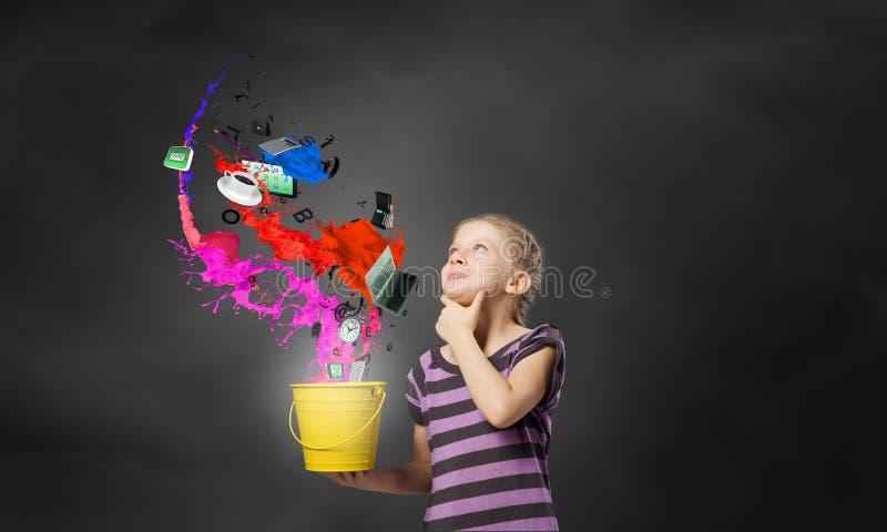Färgrik barndom! royaltyfria foton