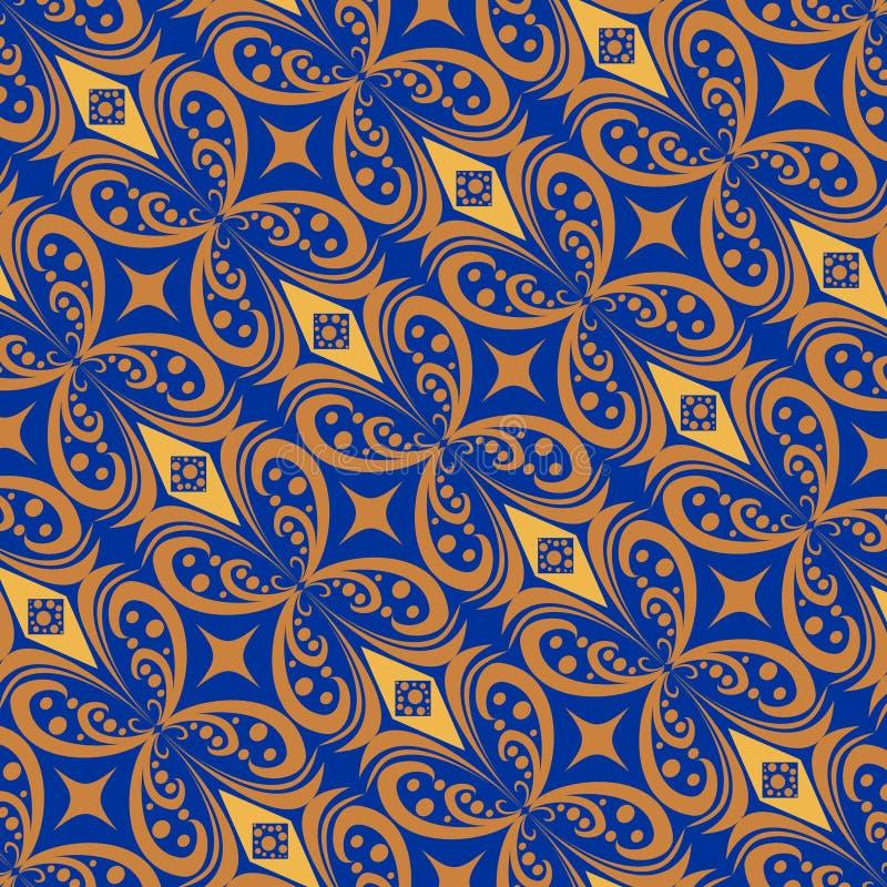 Färgrik Batikmodelltapet stock illustrationer