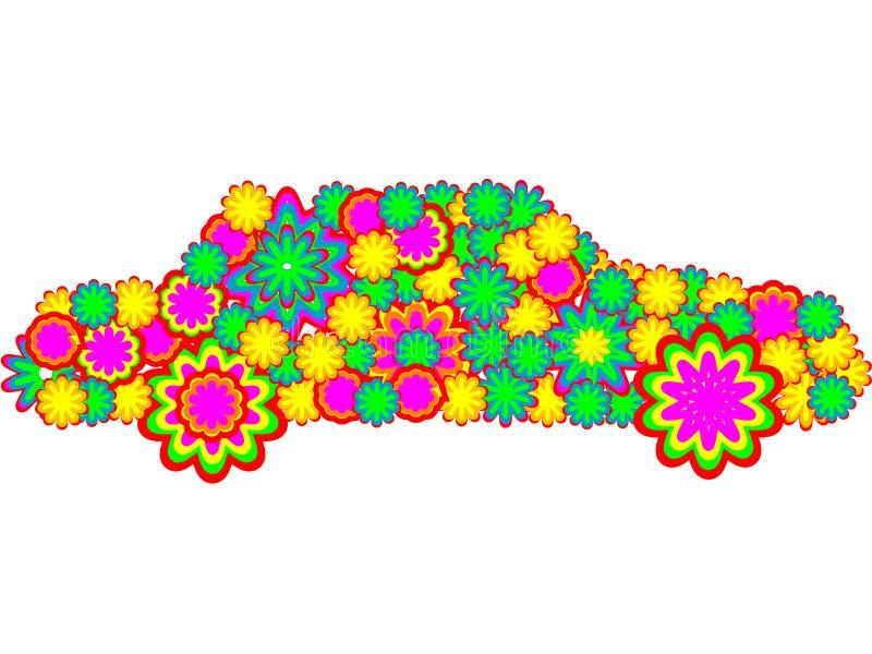 färgrik bil vektor illustrationer