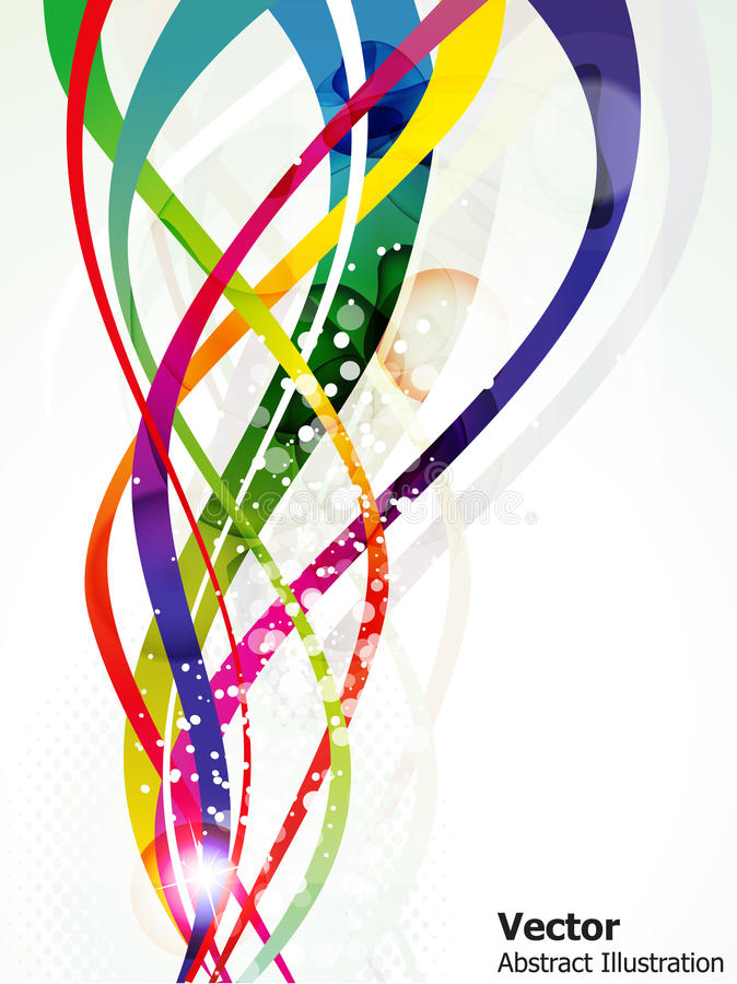 färgrik blank wave för abstrakt bakgrund royaltyfri illustrationer