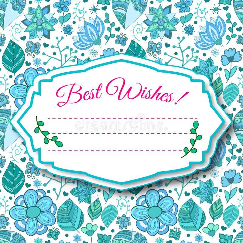Färgrik blom- bakgrund med sidor och royaltyfri illustrationer