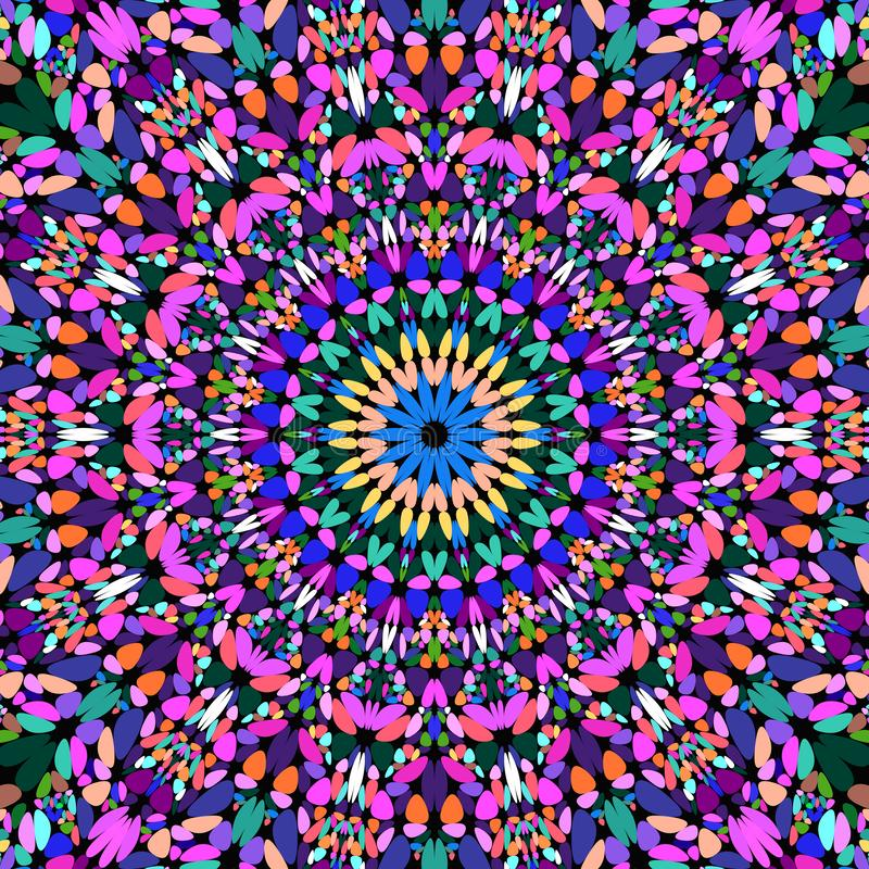 Färgrik blom- design för tapet för kalejdoskopmandalamodell - bohemisk vektorbakgrundsillustration vektor illustrationer