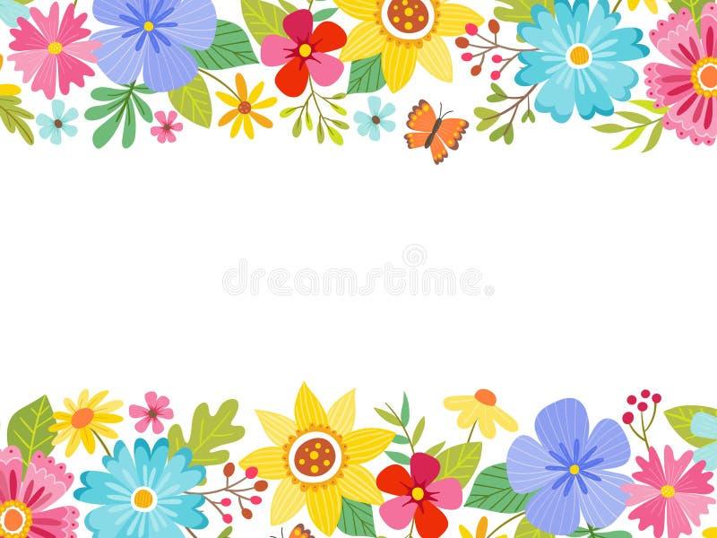 färgrik blom- fjäder för bakgrund Landscape formaterar vektor illustrationer